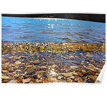 Lake Rocks and Waves Poster