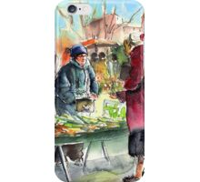 Vegetable Seller in a Provence Market iPhone Case/Skin