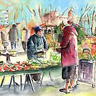 Vegetable Seller in a Provence Market by Goodaboom