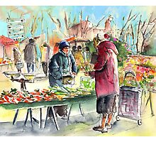 Vegetable Seller in a Provence Market Photographic Print