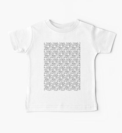 love text pattern Baby Tee
