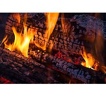 Wood Fire Photographic Print