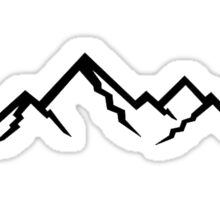 Mountains. Sticker