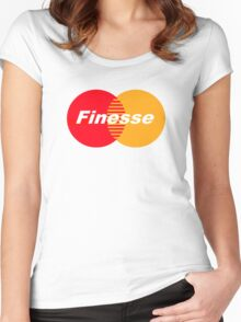 FINESSE UR CREDIT CARD COMPANY FUCK MASTERCARD Women's Fitted Scoop T-Shirt