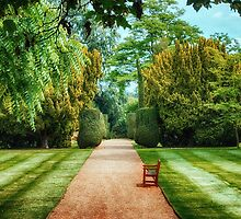 Green Formal Garden by Vicki Field
