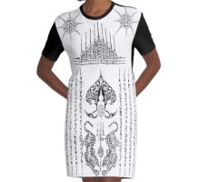 Sak Yant  Graphic T-Shirt Dress