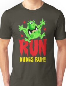 Run Dudes!Save yourselves, Halloween is coming!  Unisex T-Shirt