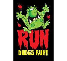 Run Dudes!Save yourselves, Halloween is coming!  Photographic Print