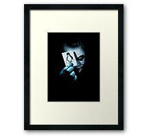The joker holding linux penguin card Framed Print
