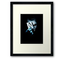 The joker holding linux penguin card Framed Print