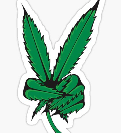 WHAT IS THIS A FUCKING WEED PEACE SIGN Sticker