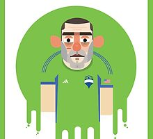 Clint Dempsey - Seattle Sounders by Gary Ralphs