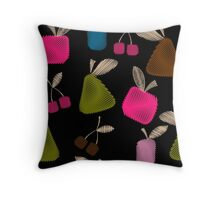 Funny cartoon multi -Frutti .  Throw Pillow