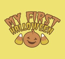 My First Halloween! with pumpkin Baby Tee