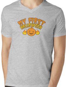 My First Halloween! with pumpkin Mens V-Neck T-Shirt