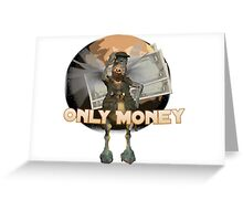 Jedi Only Money Tatooine Greeting Card