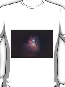 Fireworks competition at night T-Shirt