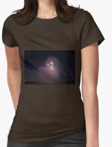 Fireworks competition at night Womens Fitted T-Shirt