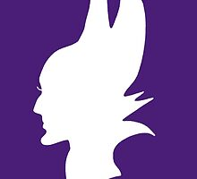 White Maleficent Silhouette by BethannieeJ