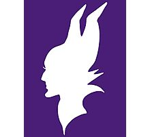 White Maleficent Silhouette Photographic Print