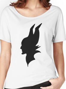 Black Maleficent Silhouette Women's Relaxed Fit T-Shirt