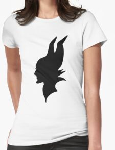 Black Maleficent Silhouette Womens Fitted T-Shirt