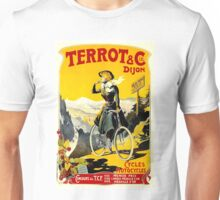 TERROT CYCLES; Vintage Bicycle Advertising Print Unisex T-Shirt