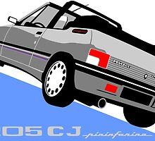 Peugeot 205 CJ cabriolet silver by car2oonz