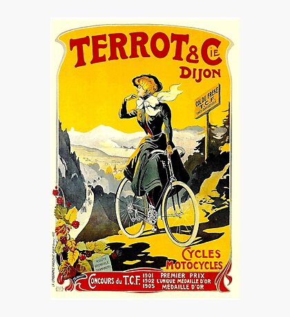 TERROT CYCLES; Vintage Bicycle Advertising Print Photographic Print
