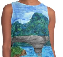 Irish Seaside Ruins Contrast Tank