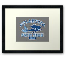 Atlantica Swim Team Framed Print