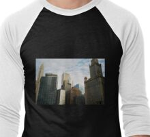 Chicago Skyline Men's Baseball ¾ T-Shirt