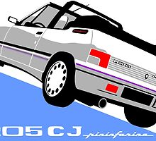 Peugeot 205 CJ cabriolet white by car2oonz