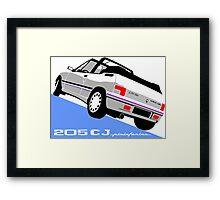 Peugeot 205 CJ cabriolet white Framed Print