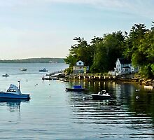 A Quiet Cove - Southport,  Maine by T.J. Martin
