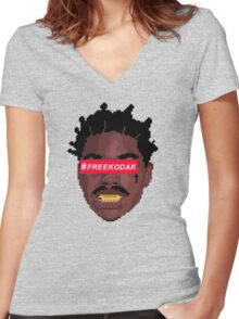KODAK BLACK Women's Fitted V-Neck T-Shirt