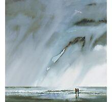 beneath turbulent skies - watercolour Photographic Print