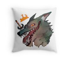The Mad King Throw Pillow
