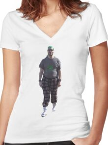 Go Green Women's Fitted V-Neck T-Shirt