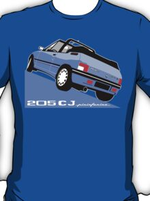 Peugeot 205 CJ cabriolet light blue T-Shirt