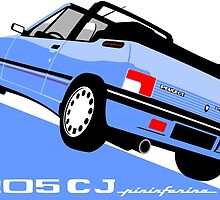 Peugeot 205 CJ cabriolet light blue by car2oonz