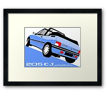 Peugeot 205 CJ cabriolet light blue Framed Print