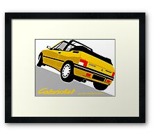 Peugeot 205 Cabriolet yellow Framed Print