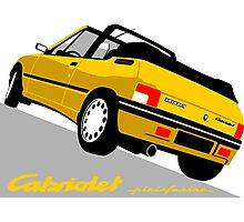 Peugeot 205 Cabriolet yellow Photographic Print