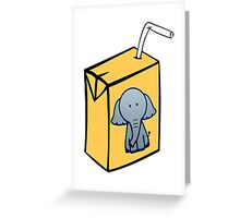 Elephant Juice Greeting Card
