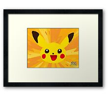 Pikachu Artwork (Pokemon Art Academy) Framed Print