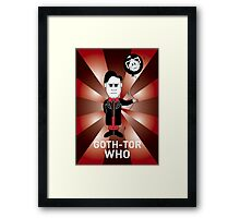 GOTH DR WHO! Framed Print