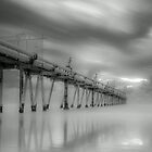 Fingal Sand Pumping Jetty in B&W NSW Australia by Beth  Wode