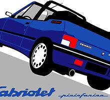 Peugeot 205 Cabriolet blue by car2oonz