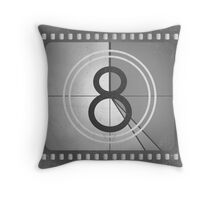 Vintage Countdown Film Throw Pillow